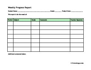 How to write a simple progress report